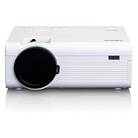 Lenco Lpj 300 Bluetooth Beamer Mini Beamer 2800 Lumen 30 000 Stunden Lebensdauer Full Hd Bluetooth 5 0 2 X Hdmi Usb Sd Port Av In Vga Weiß Heimkino Tv Video