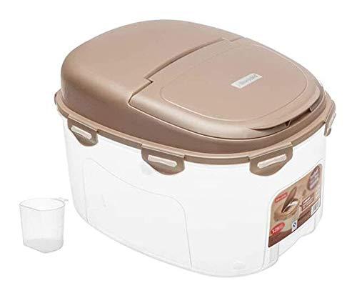 QFLY Tarros Cocina Los contenedores de Cereales de arroz de Almacenamiento Caja de plástico Sello a Prueba de Humedad del Grano 12kg Cocina contenedor de Almacenamiento Botes Cristal Cocina
