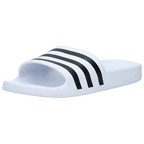 adidas Adilette Aqua, Ciabatte Unisex-Adulto, Ftwr White Core Black, 43 EU