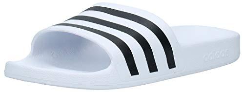 adidas Adilette Aqua, Scarpe da Spiaggia e Piscina Unisex Adulto, Bianco (Ftwr White/Core Black/Ftwr White Ftwr White/Core Black/Ftwr White), 39 EU