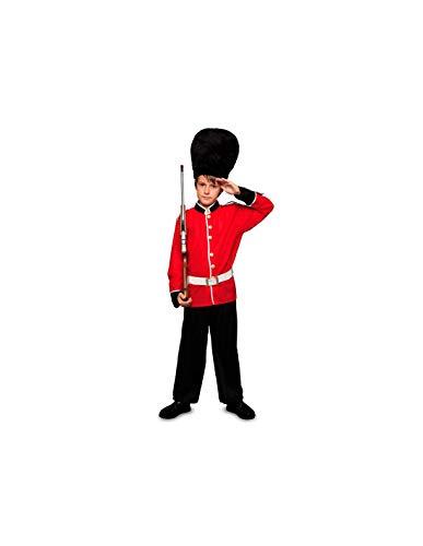 DISBACANAL Disfraz Guardia Inglesa Infantil - -, 3-4 aos