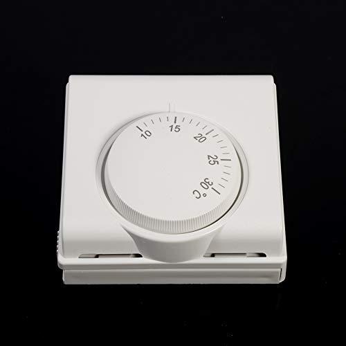 Termostato mecánico, interruptor de termostato de controlador de temperatura mecánico de habitación de 220 V para aire acondicionado central nuevo