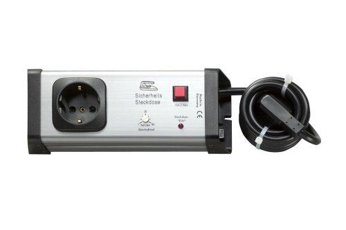 Steckdosenleiste mit Schalter und Zeitschaltfunktion – Reduziert Brandgefahr und spart Strom – Schaltbare Steckdose mit Verlängerungskabel Made in Germany
