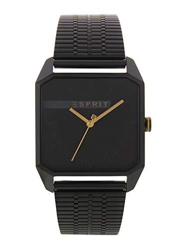 Esprit Herren Analog Quarz Uhr mit Edelstahl Armband ES1G071M0075