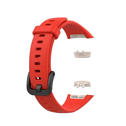 RUSTOO Correa Compatible para Huawei Band 6 / Honor Band 6 TPU Correa de Pulsera de Repuesto Impermeable, Correa Deportiva de Silicona Suave, Pulsera de Accesorio Deportivo de Repuesto Ajustable