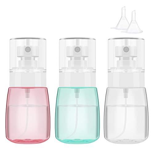 Botella pulverizadora portátil recargable de 30 ml con pulverizador de niebla fina, dispensadores de líquidos, vacíos de plástico transparente, para viajes, pequeño recipiente atomizador de viaje