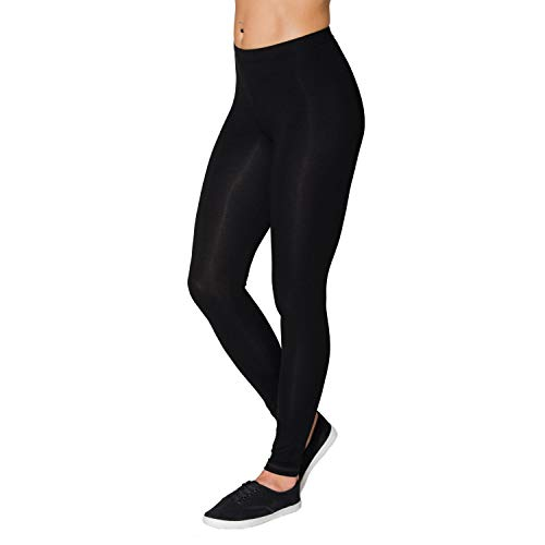 Alkato Damen Leggings Lang Blickdicht Viskose, Farbe: Schwarz, Größe: 46