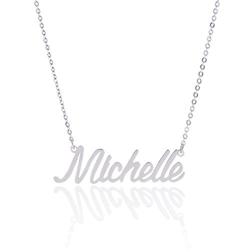 AOLO Stainless Steel Tiny Charm Necklace for Birthday, Michelle