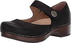 professional Ladies Clog Dansko Beatrice Black Clog 7.5-8M US