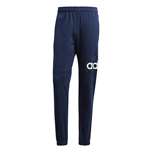 adidas Men's Essentials Performance Logo Pants, Collegiate Navy/White/White, Medium
