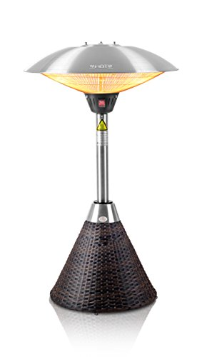 Firefly 2.100 Watt Infrarot-Heizstrahler (Halogen) Terrassenheizung, Tischheizung, 3 Leistungsstufen, Braun