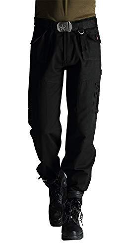 DMDMJY Los Pantalones Ocasionales Al Aire Libre Militar De Carga De Los Hombres Relajó La Multi-Bolsillo De Excursión Subir Tactical Pantalones,Negro,29