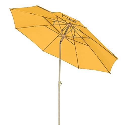 WXHXJY Sombrilla, Sombrillas Redondas de 7.3 pies con manivela y Mecanismo de inclinación, Toldo para Parasol para jardín/terraza/Patio Trasero/Piscina,Yellow