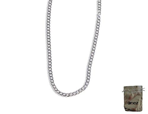 Original Enez Edelstahl Halskette Königskette Panzerkette Länge 50cm B: 4mm R2867 + Geschenkbeutel