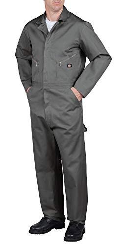 Dickies Men's Deluxe Cotton Coverall, Gray, Medium Regular