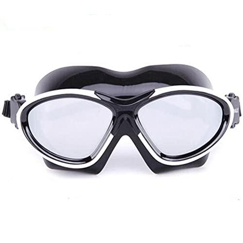 Hombres Profesionales y Anti-Niebla de Mujer y Gafas de natación Impermeables (Color : Silver, Size : One Size)