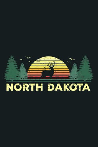 North Dakota Vintage Pine Sunset Souvenir: Notebook Planner - 6x9 inch Daily Planner Journal, To Do List Notebook, Daily Organizer, 114 Pages