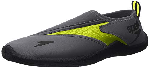 Speedo Men's Water Shoe Surfwalker Pro 3.0,Grey/Safety Yellow,12 Mens US