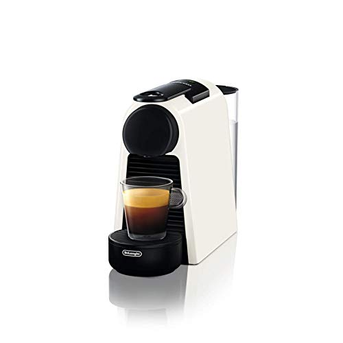 De\'Longhi Nespresso Essenza Mini EN 85.W Kaffeekapselmaschine, Welcome Set mit Kapseln in unterschiedlichen Geschmacksrichtungen, 19 bar Pumpendruck, Platzsparend, Weiß