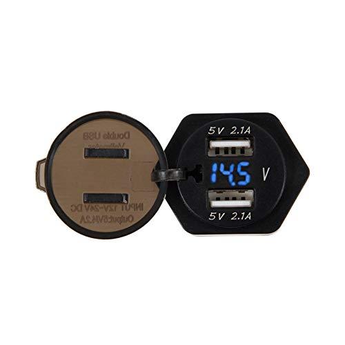ZXC Motocicleta Dual USB Voltímetro Digital Ajuste for BMW F800GS F650GS F700GS R1200GS R1200RT F650 F700 F800 GS R 1200 GS/RT ADV Installationen är enkel Och bekväm (Color : Blue)
