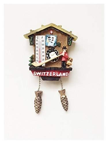Yaoqshu Imanes Nevera Suiza Lu Lago Lucerna Zúrich Mundo Viaje Frigorífico Imanes Cuco Reloj Refrigerador Pegatina Magnética Recuerdo Leche Chocolate (Color : Orange)