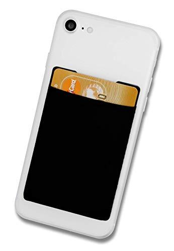 Cardsock - Wiederverwendbarer Handy Kartenhalter, Kartenfach, Kartenetui - Smartphone Wallet für Kreditkarten und Bargeld in schwarz