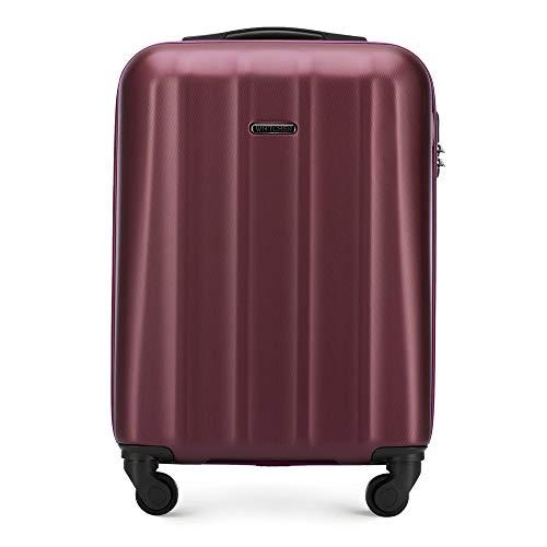 WITTCHEN Trolley bagaglio a mano Bagaglio a mano Materiale policarbonato 4 ruote piroettanti Chiusura a combinazione Manici in gomma rigida Rosso