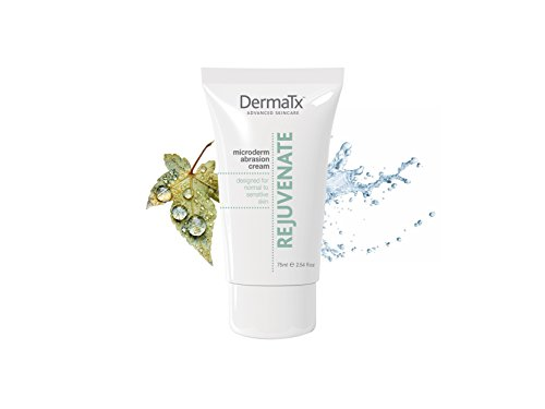 DermaTx Rejuvenate Microdermabrasion Cream. Designed for normal to sensitive skin. Microdermabrasion to exfoliate the skin to achieve smoother younger looking skin (2.54 FL OZ)