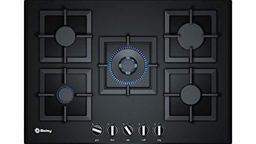 Balay 3ETG676HB Integrado Encimera de gas Negro hobs - Placa (Integrado, Encimera de gas, Vidrio, Negro, hierro fundido, 1000 W)