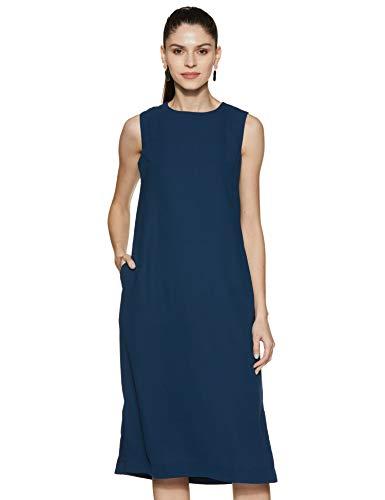 Amazon Brand – Symbol Women's Crepe Shift Midi Dress