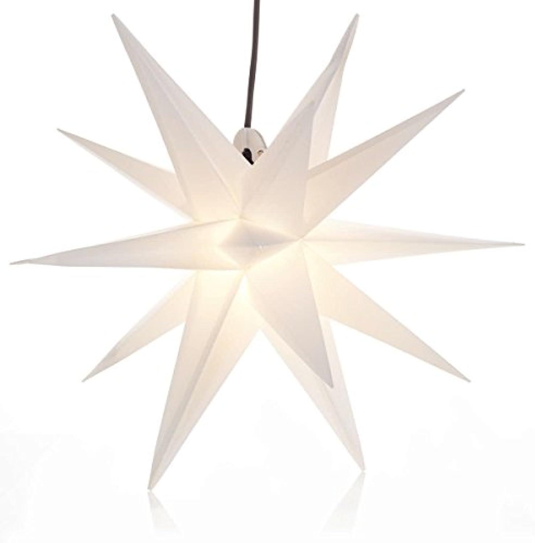 IMPRESSIONEN living Outdoor Adventsstern Leuchtstern 3D Polypropylen wei 50 cm  -  100 cm