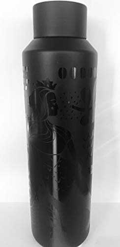 Starbucks Siren Water Bottle 2019 Black Vacuum Insulated 20oz.