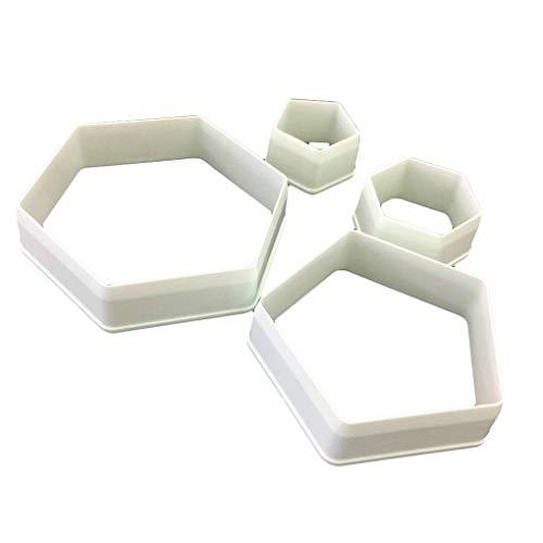 Fangfeen 4Pcs Fussball Form DIY Zuckerfertigkeit Dekorieren Fondant-Kuchen-Form-Lebensmittelqualität Kunststoff Fußball Ausstechform Mold
