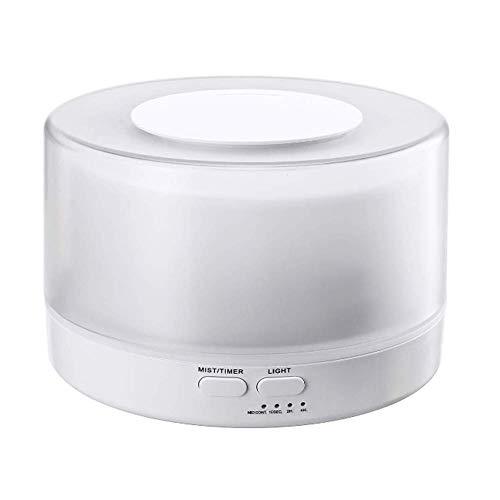 HH-JSQ Luchtbevochtiger, 700 ml, ultrasone diffuser, 7-kleurige LED-lampen, stille nachtmodus (tot 40 m2) voor ruimte, kantoor, yoga, spa, enz.