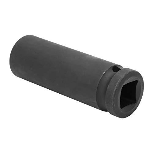【𝐑𝐞𝐠𝐚𝐥𝐨】 Vaso de impacto, Drive Vaso de impacto, Métrico Recubrimiento satinado negro Otras herramientas manuales Herramienta de impacto para varilla de extensión de 1/2 pulgada(19mm)