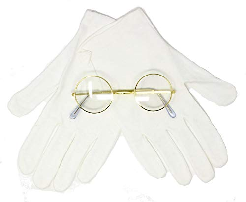 Rubie's Costume Co Santa Gloves and Glasses Accessory Set White