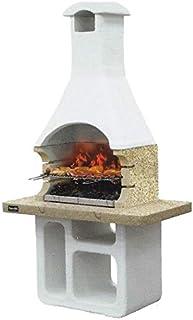 Barbacoa de pared Sunday utilizable con leña y/o carbón modelo Victoria Crystal