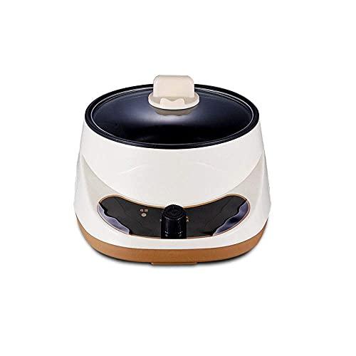 YQG Sartén eléctrica antiadherente de acero inoxidable, fideos arrocerera al vapor, sopa de huevos al vapor, mini sartén de cocción frita, 20 cmpinksinglelayer