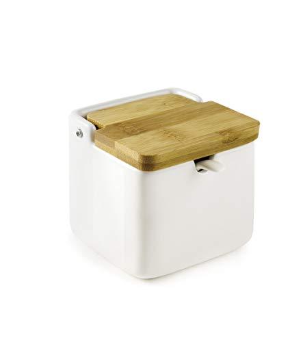 Ibili 714800 zout-/suikerpot met lepel, 8 x 8 x 8 cm