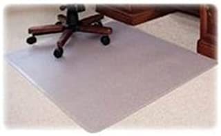 Lorell Med Plush Rectangular Chairmat, 46 by 60-Inch, Clear