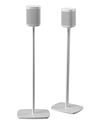 Flexson Floor Stands for Sonos One, One SL and Play:1 - White (Pair) by Flexson
