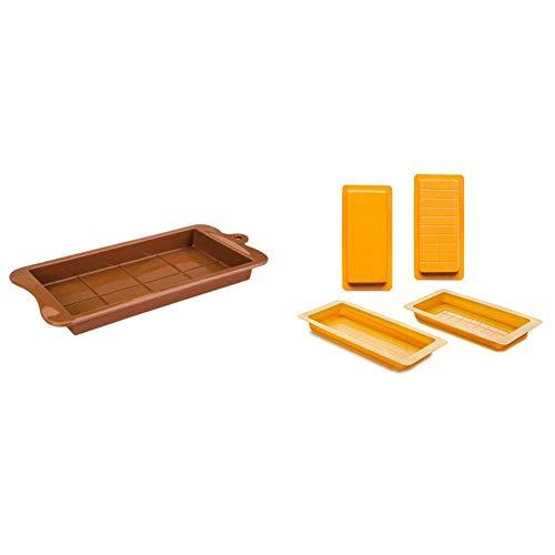 IBILI 860400 Molde Turron De Chocolate + Set 2 MOLDES TURRON Tronco+ONZAS, Centimeters