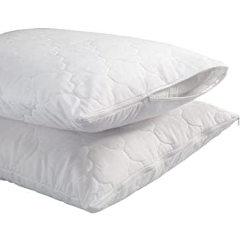 Trance Home Quilted Pillow Protector Dust Free Water Resistant Covers Pack of 2pcs (28 X 18)