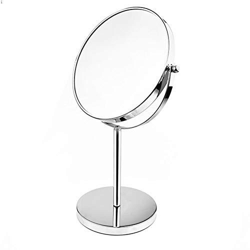 Miroir Miroir Maquillage Coiffeuse Loupe Double Face Simple Rotation De 360 Degrés ZHANGAIZHEN (Couleur : Small)