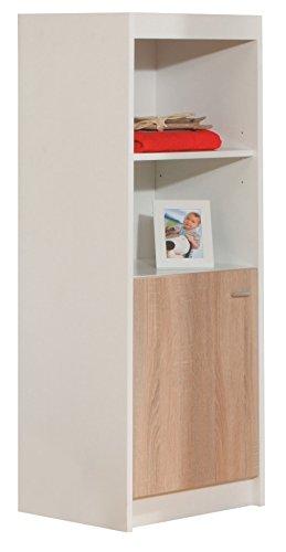 roba Standregal 'Gabriella', Regal mit zwei offenen Fächern und einer Schranktür, Kinderzimmer Regal, bicolor