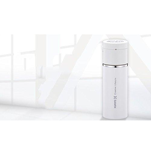 Tasse électrique de voiture, tasse intelligente, chauffage d'USB jusqu'à 50 ° C, acier inoxydable 304, 260ml ( Color : White )