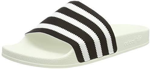 adidas ADILETTE, Herren Pantoffeln, Schwarz (Core Black/Ftwr White/Off White Core Black/Ftwr White/Off White), 42 EU (8 UK)