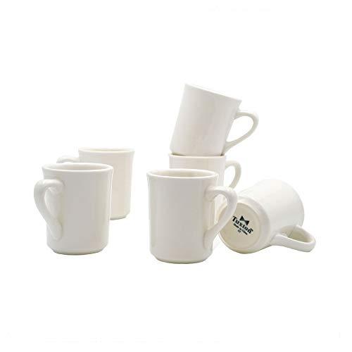 Tuxton Home THTRE017-6B Nevada Ceramic Coffee Mug, 8-Ounce, Eggshell White