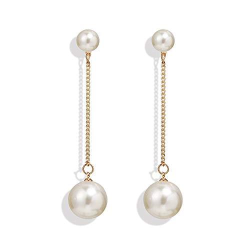 Grande Clip Perla A Perle di Perle Simulata su Orecchini Senza Piercing per Le Donne Festeggiare Le Clip Auricolari Regalo