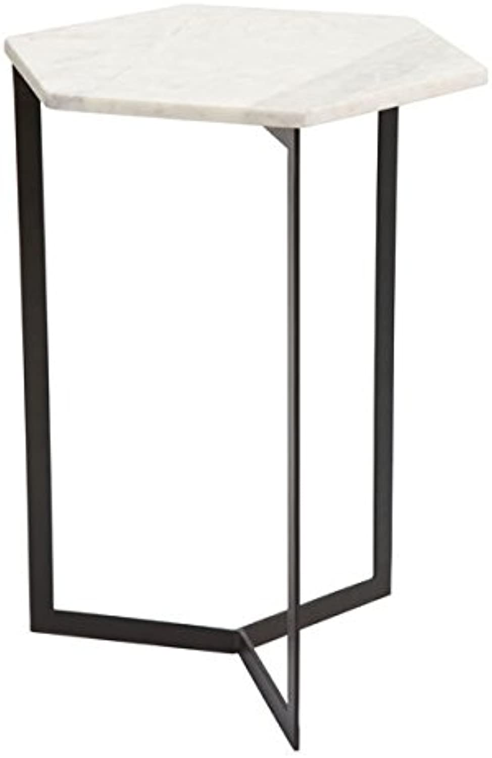 Zuo Ryes Accent Table, Black & White